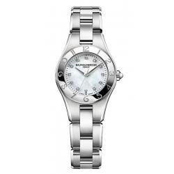 Buy Women's Baume & Mercier Watch Linea 10011 Diamonds Mother of Pearl