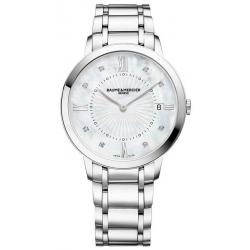 Buy Women's Baume & Mercier Watch Classima 10225 Diamonds Mother of Pearl