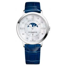 Buy Women's Baume & Mercier Watch Classima 10226 Moonphase Diamonds Mother of Pearl