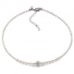 Buy Women's Boccadamo Necklace Perle GR502 Swarovski