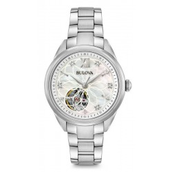 Women's Bulova Watch Classic 96P181 Diamonds Mother of Pearl