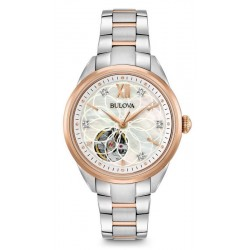 Women's Bulova Watch Classic 98P170 Diamonds Mother of Pearl