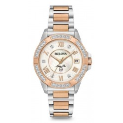 Women's Bulova Watch Marine Star 98R234 Diamonds Mother of Pearl