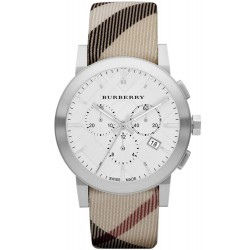 Buy Men's Burberry Watch The City Nova Check BU9357 Chronograph