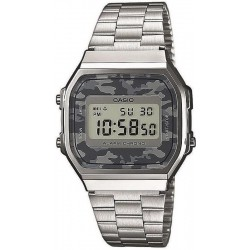 Casio Collection Unisex Watch A168WEC-1EF Camouflage Multifunction Digital