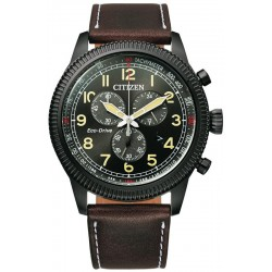 Buy Mens Citizen Watch Aviator Chrono Eco Drive AT2465-18E