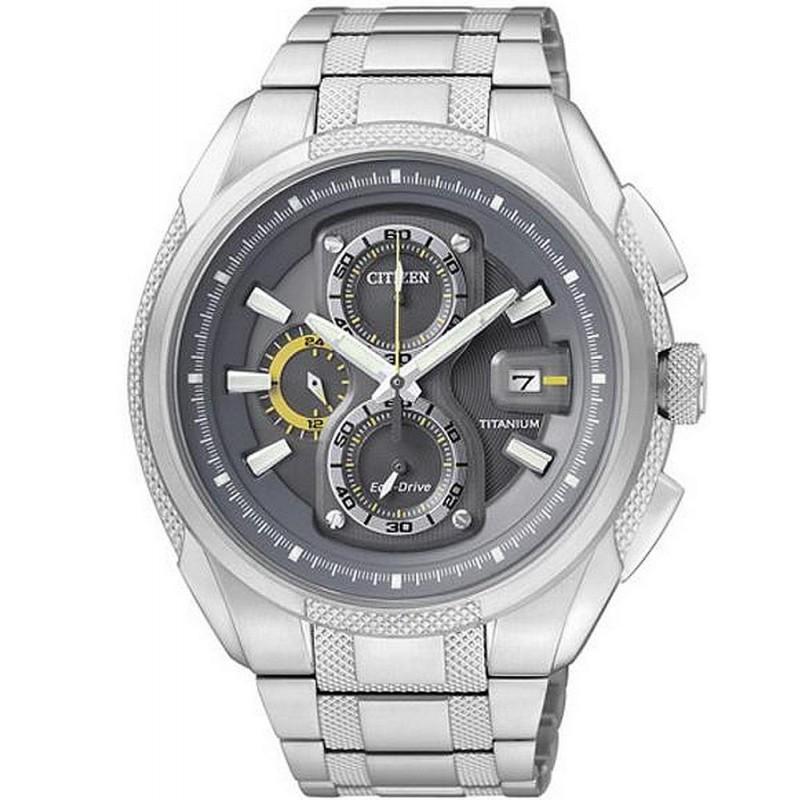 3d7cc5106 Men's Citizen Watch Super Titanium Chrono Eco-Drive CA0200-54H. -5% Buy ...