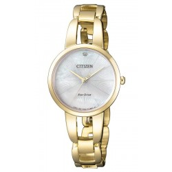 Women's Citizen Watch Eco-Drive EM0432-80Y Diamond Mother of Pearl