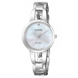 Women's Citizen Watch Eco-Drive EM0430-85N Diamond Mother of Pearl