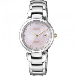 Women's Citizen Watch Super Titanium EW2506-81Y Diamond Mother of Pearl