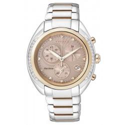 Buy Women's Citizen Watch Chrono Eco-Drive FB1385-53W Diamonds