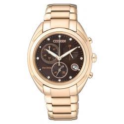 Buy Women's Citizen Watch Chrono Eco-Drive FB1395-50W Diamonds
