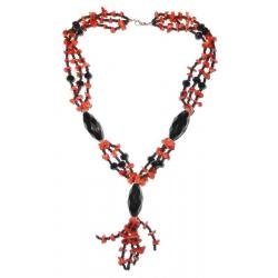 Women's Red Coral Necklace CR114