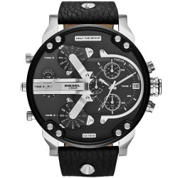 Men's Diesel Watch Mr. Daddy DZ7313 Chronograph 4 Time Zones
