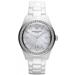 Buy Women's Emporio Armani Watch Ceramica AR1426 Mother of Pearl