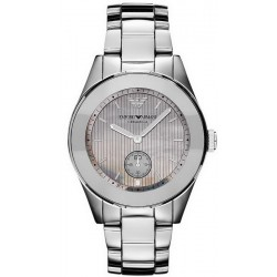 Buy Women's Emporio Armani Watch Ceramica AR1463 Titanium Mother of Pearl