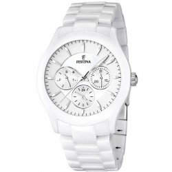 Buy Men's Festina Watch Ceramic F16639/1 Quartz Multifunction