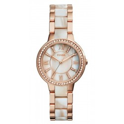 Women's Fossil Watch Virginia ES3716 Mother of Pearl Quartz