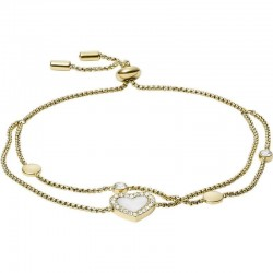 Women's Fossil Bracelet Vintage Glitz JF03216710 Heart Mother of Pearl