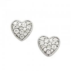 Buy Women's Fossil Earrings Sterling Silver JFS00151040 Heart