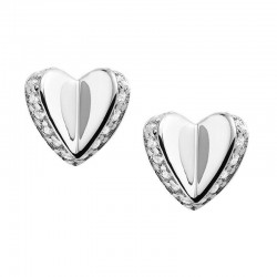 Buy Women's Fossil Earrings Sterling Silver JFS00423040 Heart