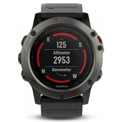 Men's Garmin Watch Fēnix 5X Sapphire 010-01733-01 GPS Multisport Smartwatch