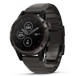 Men's Garmin Watch Fēnix 5 Plus Sapphire 010-01988-03 GPS Multisport Smartwatch