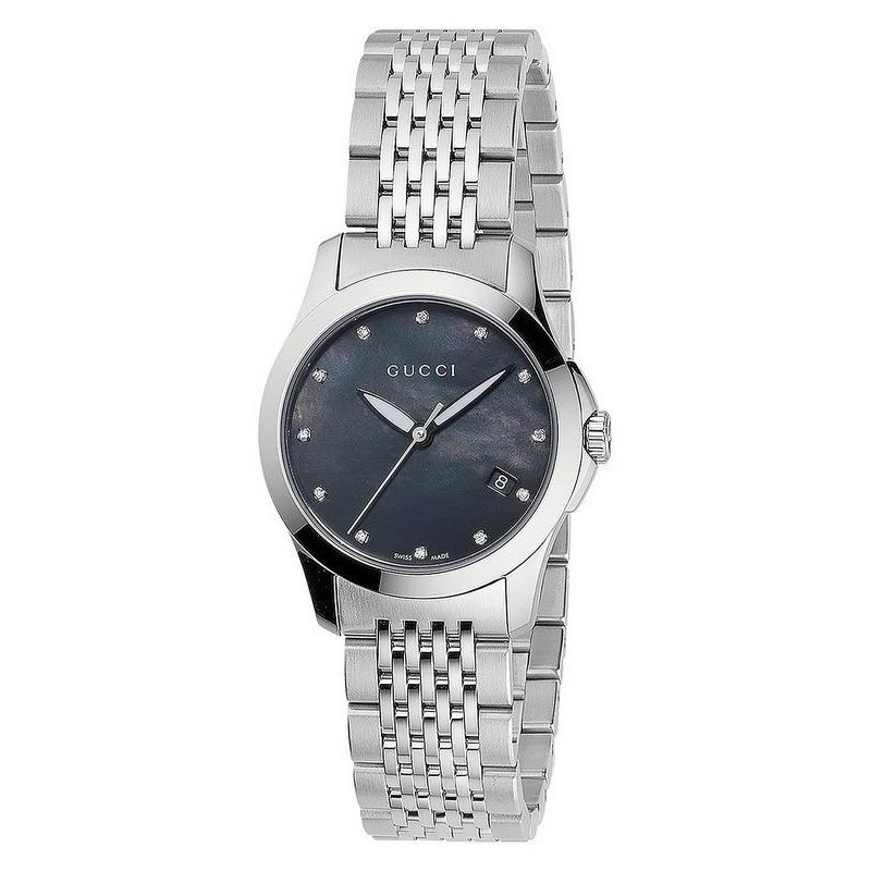 38e5e649012 Women s Gucci Watch G-Timeless Small YA126505 Diamonds Mother of Pearl