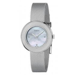 Women's Gucci Watch U-Play Small YA129517 Diamonds Mother of Pearl