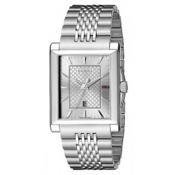 Buy Men's Gucci Watch G-Timeless Rectangular Medium YA138403 Quartz