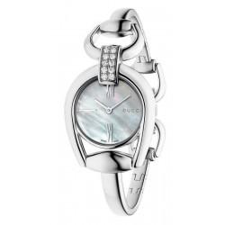 Women's Gucci Watch Horsebit Small YA139504 Diamonds Mother of Pearl