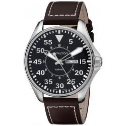 Men's Hamilton Watch Khaki Aviation Pilot Day Date Quartz H64611535