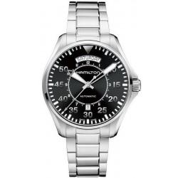 Men's Hamilton Watch Khaki Aviation Pilot Day Date Auto H64615135