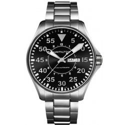 Men's Hamilton Watch Khaki Aviation Pilot Day Date Auto H64715135