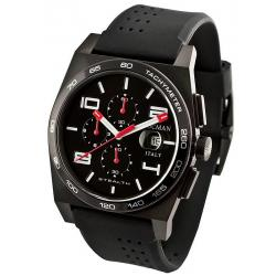 Men's Locman Watch Stealth Quartz Chronograph 0209BKKBKWHRSIK
