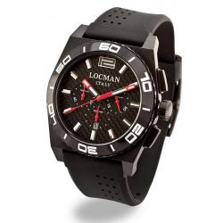Men's Locman Watch Stealth Quartz Chronograph 0212BKKA-CBKSIK