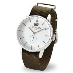 Buy Men's Locman Watch 1960 Gran Data Quartz 0252V08-00WHRGNG