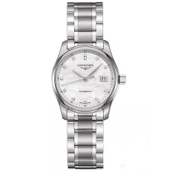 Buy Women's Longines Watch Master Collection L22574876 Diamonds Mother of Pearl Automatic
