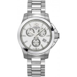 Buy Unisex Longines Watch Conquest Classic L32794766 Quartz Chronograph