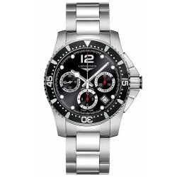 Men's Longines Watch Hydroconquest L37444566 Automatic Chronograph