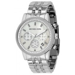 Women's Michael Kors Watch Ritz MK5020 Chronograph Mother of Pearl