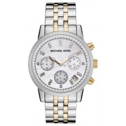 Women's Michael Kors Watch Ritz MK5057 Chronograph Mother of Pearl