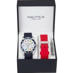 Men's Nautica Watch NST 07 Flag Box Set NAI13502G Multifunction