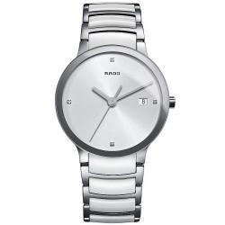 Men's Rado Watch Centrix Diamonds L Quartz R30927722 Ceramic Diamonds