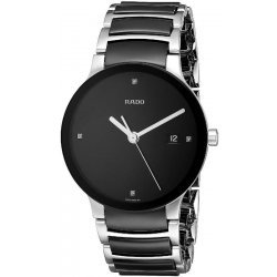 Men's Rado Watch Centrix Diamonds L Quartz R30934712 Ceramic Diamonds