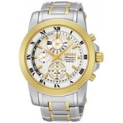 Men's Seiko Watch Premier Chronograph Perpetual Calendar Alarm SPC162P1