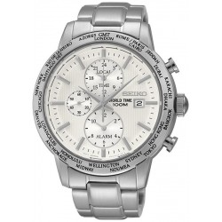 Men's Seiko Watch SPL047P1 World Time Chronograph Alarm Quartz