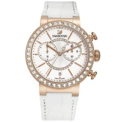 Buy Women's Swarovski Watch Citra Sphere Chrono White Rose Gold Tone 5080602