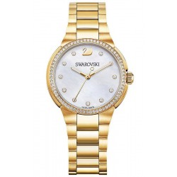 Buy Women's Swarovski Watch City Mini Yellow Gold Tone 5221172 Mother of Pearl