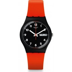 Unisex Swatch Watch Gent Red Grin GB754